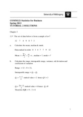 Tutorial 2 Chapter 3 solutions