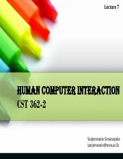CST 362-2_HCI - Lecture 7 - Interaction Design Basics (Part 1) - a