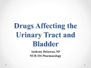 nur 331Urinary Tract and Bladder-student-vers