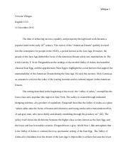 The great gatsby final book review