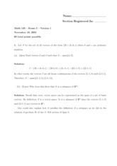 Math 125 Fall 05 - Exam 3 - Solutions