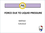force due to liquid pressure