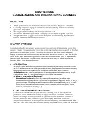 International Business Exam Summary Review Guide 15e