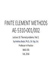 MECHANICAL 5310 : finite element analysis - University of Texas,