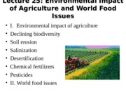 World Food Issues Lecture
