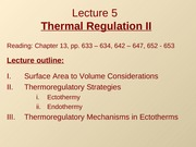 Lec5 - Thermal Regulation II