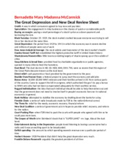 The GD and New Deal Review Sheet