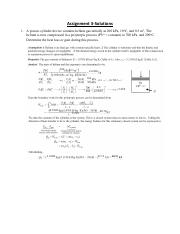 thermodynamics assignment 3