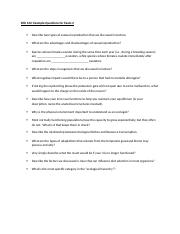 Example Questions Exam 4 (Final)