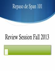 SPAN 101: Final Review Presentation F2013