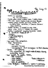 Renaissance and Baroque art notes