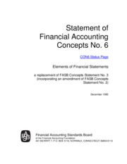 FASB Concepts Statement No. 6, Elements of Financial Statements
