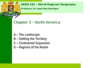 Geog 001 Chapter 3 (North America)