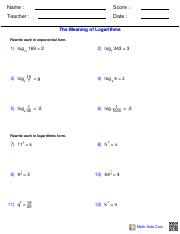 Inverse Functions Worksheet - Inverse Functions Worksheet The given ...