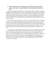 Rutgers Essay - What is the hardest part of being a teenager