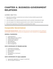 CH 6 - BUSINESS GOVERNMENT RELATIONS