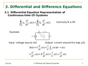 Lecture 3 -Differential Equations and Difference Equations -EGR331_3_FA2014