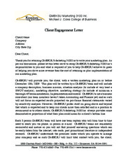 Client Engagement Letter Template