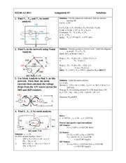 EE 240 Assignment  (3) Solution