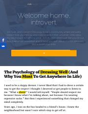 The Psychology of Dressing Well (And Why You Must To Get Anywhere In Life).pdf