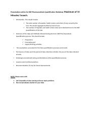 Quantification WShop_Presentation Outline.docx