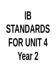 Standards for Unit 4