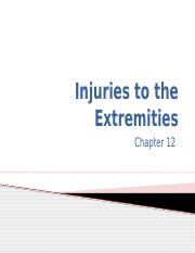 On line Chapter 12 Injuries to the Extremities.pptx