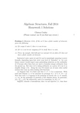 MATH 373 Fall 2014 Homework 1 Solutions
