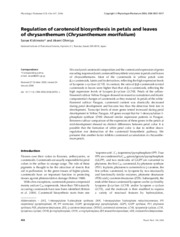 Regulation of carotenoid biosynthesis in petals and leaves of chrysanthemum (Chrysanthemum morifoliu