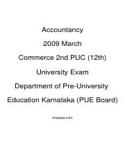 (www.entrance-exam.net)-Department of Pre-University Education Karnataka (PUE Board) Accountancy Sam