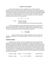 Chemical Equilibria Guide