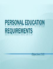 2.01 Personal Education Requirements.ppt