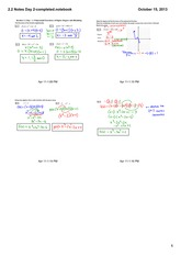 modeling function notes