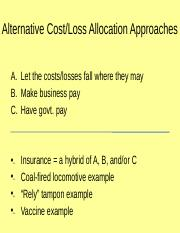 07 Alternative Cost-Loss Allocation Approaches