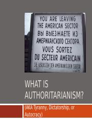 6) 9-15-10 What is Authoritarianism