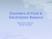 Wk 2 Fluid and Electrolyte Balance