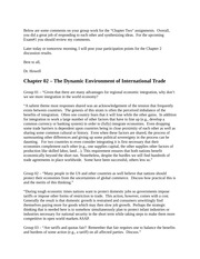Discussion Questions and Answers - Chapter 2 - The Dynamic Environment of International Trade