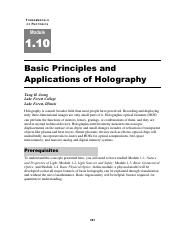 Applications of Holography.pdf