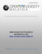 10 - MBAOUMK17A - Assignment of Vietnamese  business Law
