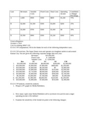 Cost Accounting Homework 3
