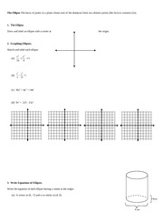 the ellipse homework and practice