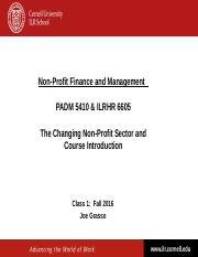 NPFM - Class 1 - The Changing Non-Profit Sector - Fall 2016.ppt