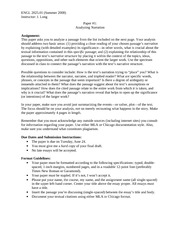 ENGL 2025 Essay 1 Guidelines