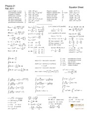 Lehigh Physics 21 Solutions