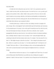 Cover Letter Essay 4