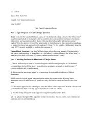 2327 Term Paper Preparation Project  Sample