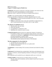 HMP 744H: Criminal Aspects of Health Care Notes