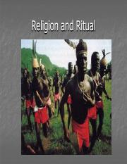 Religion and Ritual