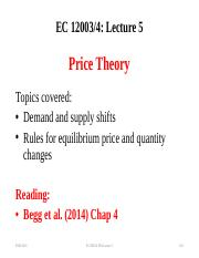 Lecture 5 Price Theory