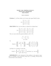 MATH 1105 Fall 2012 Partial Exam 2 Solutions